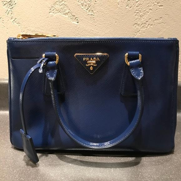 5cab6cd4a9ca Prada Bags | Saffiano Vernice Lux Small Doublezip Tote | Poshmark